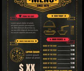Retro menu vector