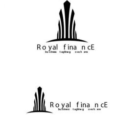 Royal finance logo vector