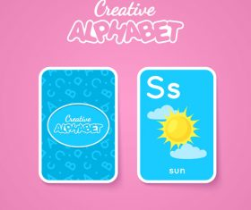 S letter word and picture vector