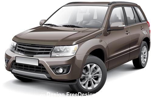 SUV car vector