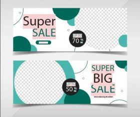 Sale promotion facebook banners vector