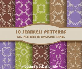 Seamless pattern color different geometric vector