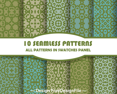 Seamless pattern colored vector
