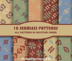Seamless pattern different color combinations vector