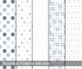 Seamless polka dot background pattern vector