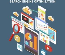 Search engine optimization illustration vector