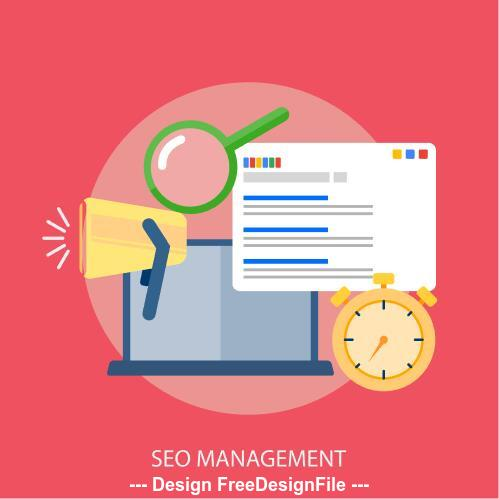Seo management elements vector