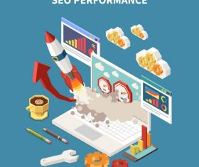 Seo performance illustration vector