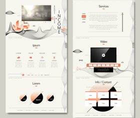 Services web design vector