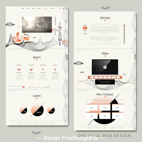 Services web design vector