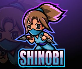 Shinobi game mascot design vector