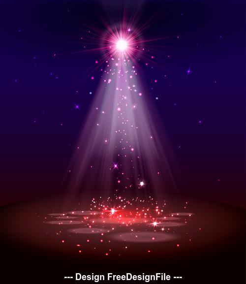 Shiny light effect vector