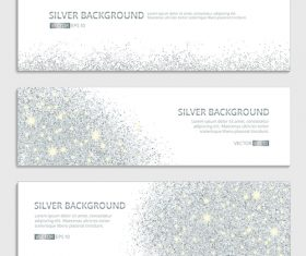Silver background banner vector