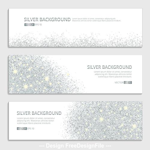 Silver background banner vector