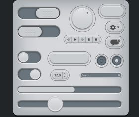 Simple and practical button design vector