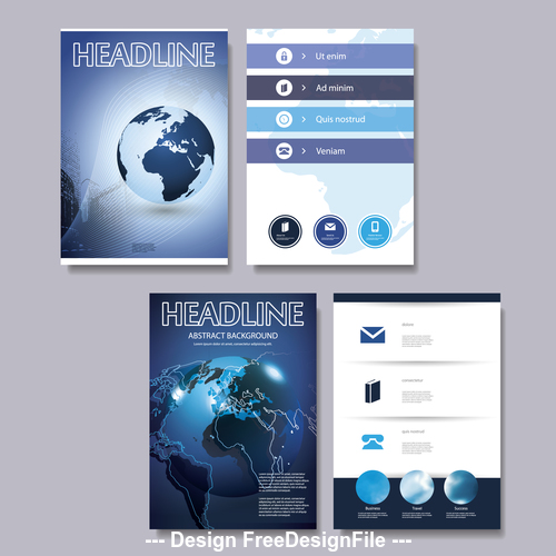 Simple page flyer design template vector