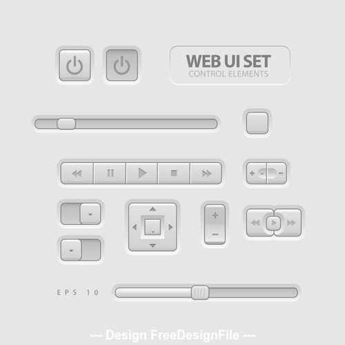 Simple panel template vector