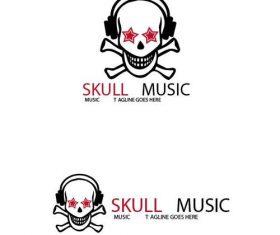 Skull Music logo vector