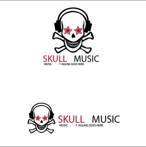 Skull Music logo vector