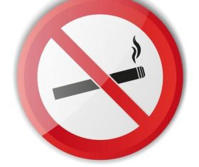 Smoking prohibited sign vector