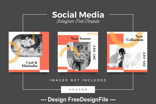 Social media post template vector 01
