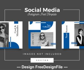 Social media post template vector 02