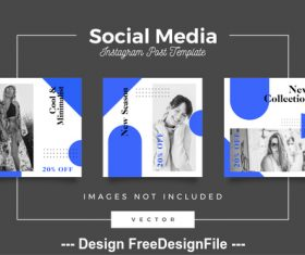 Social media post template vector 03