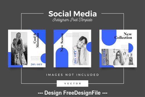 Social media post template vector 03
