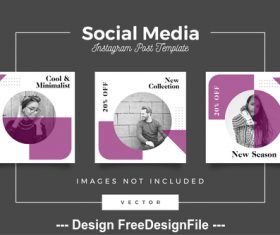 Social media post template vector 04