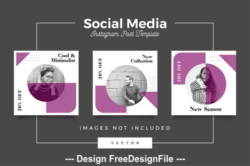 Social media post template vector 04