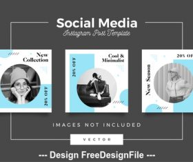 Social media post template vector 05