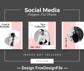 Social media post template vector 06