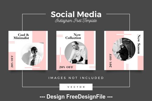 Social media post template vector 06