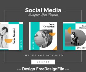 Social media post template vector 07