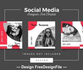Social media post template vector 08