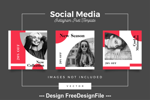 Social media post template vector 08