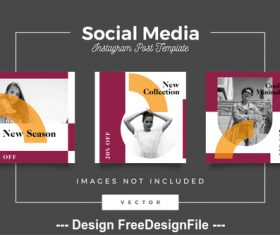 Social media post template vector 09