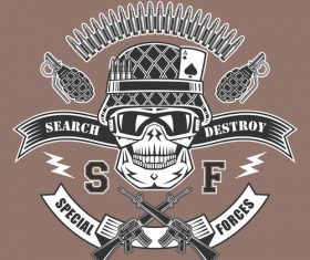 Special force emblem vector