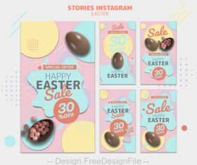 Special offer easter sale card psd template