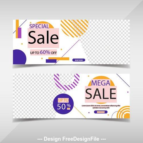 Special promotion banners template vector