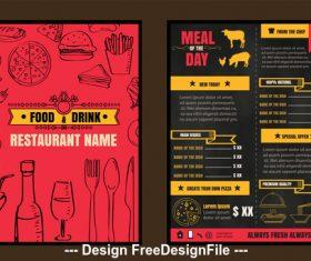 Special restaurant menu vector
