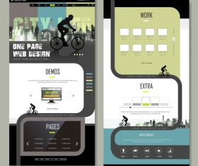 Sport website design template vector