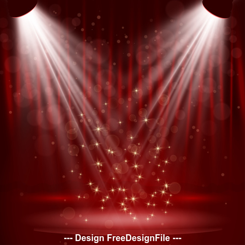 Spotlight effect vector on red background