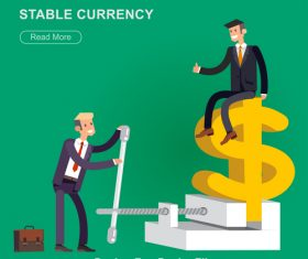 Stable currency cartoon illustration vector