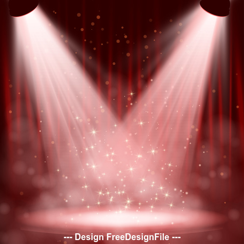 Stage cross spotlight effect vector