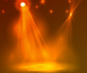 Stage lighting effect vector