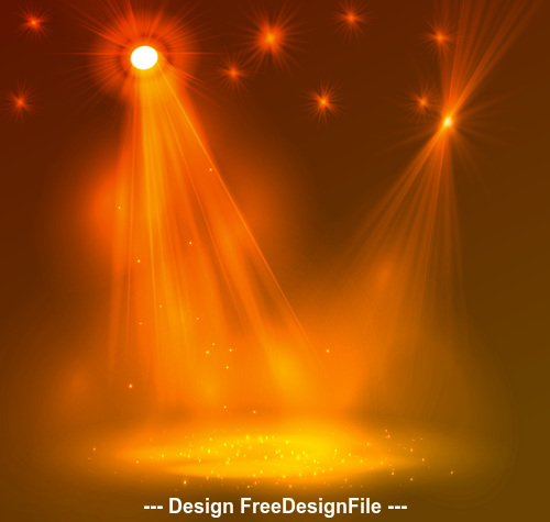 Stage lighting effect vector