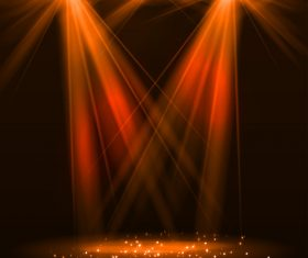 Stage spotlight effect background vector