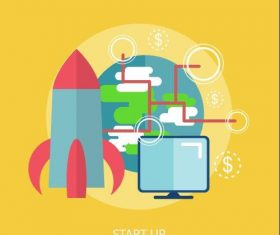 Start Up elements vector