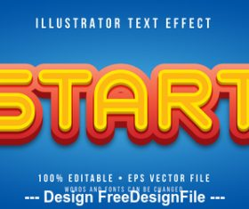 Start editable font effect text vector